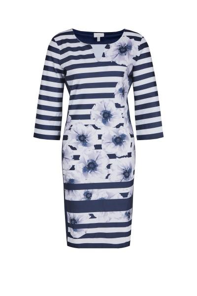 SportAlm - Kleid im grafischem All-Over-Look, Blue