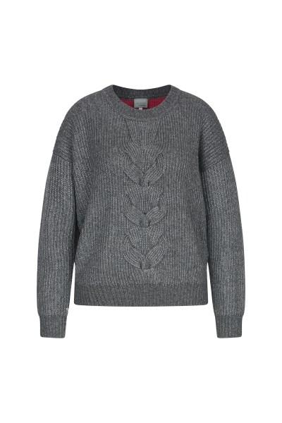 SportAlm - Pullover Kashi mit Perlfangmuster, Grau
