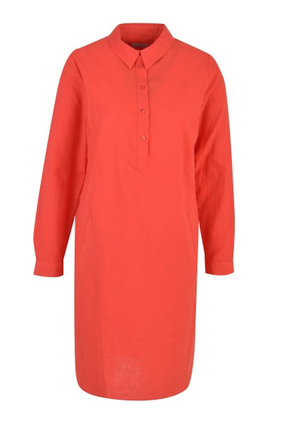 Milano Italy - Dress with collar, rot