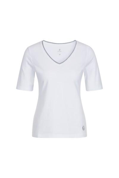 SportAlm - Kurzarmshirt mit V-Ausschnitt Mila, White