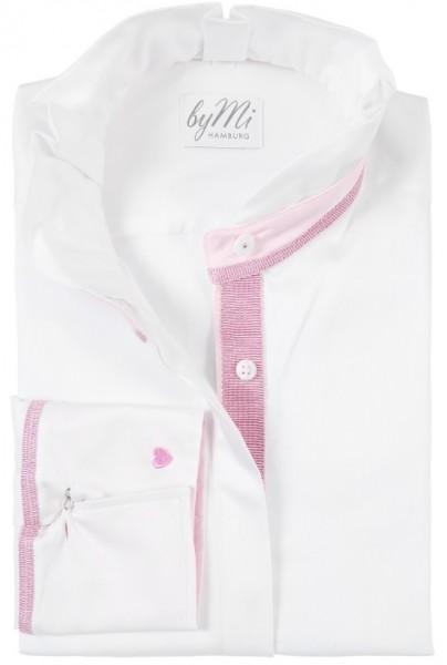 byMi - Bluse Rosy Pearl Weiß