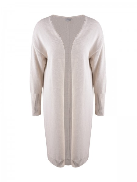 Milano Italy - Cardigan with oversized Shoulders, Natur
