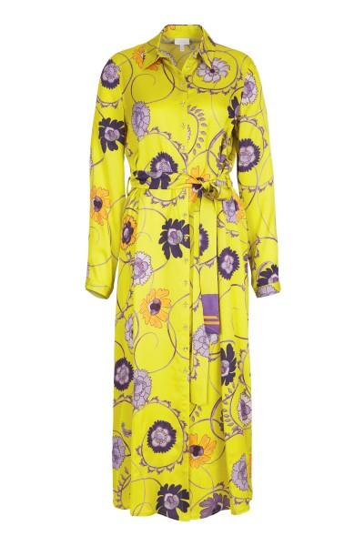 SportAlm - Hemdblusen Kleid Gelb Floral