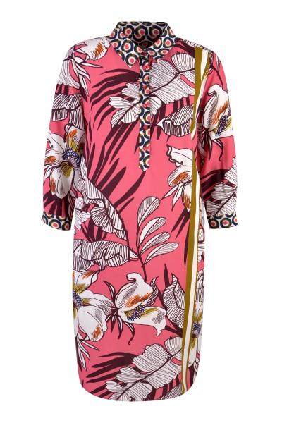Milano Italy - Dress with Collar, Light Fuchsia