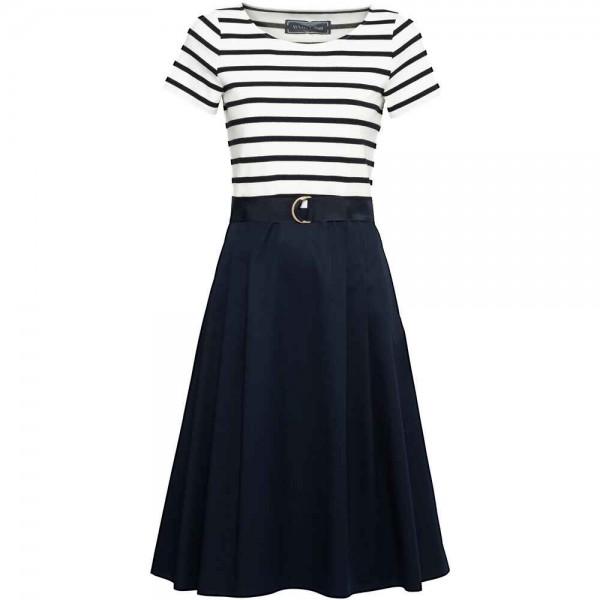 White Label - Kleid Blau-Weiß gestreift mit Gürtel
