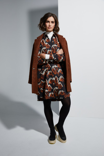 Milano Italy - Dress, Black-Print, Brown