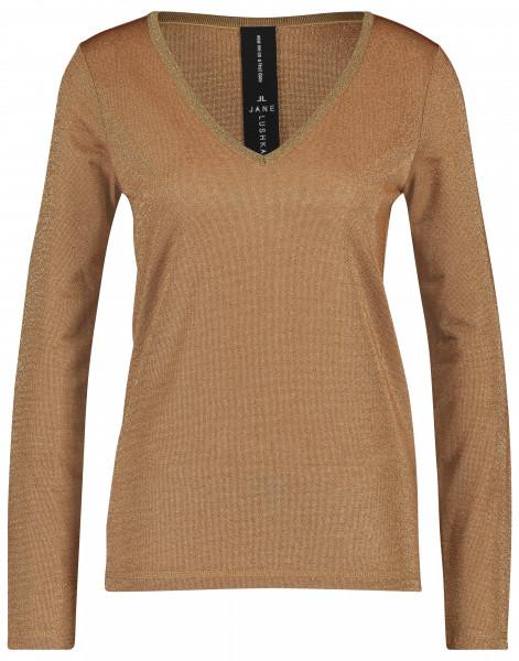 Jane Lushka - Pullover Grace V-Neck, Cognac