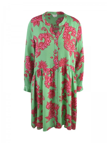 Milano Italy - Dress with Volant, spring green