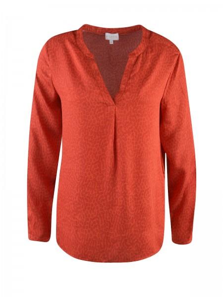 Milano Italy -Bluse mit V-Ausschnitt, Orange