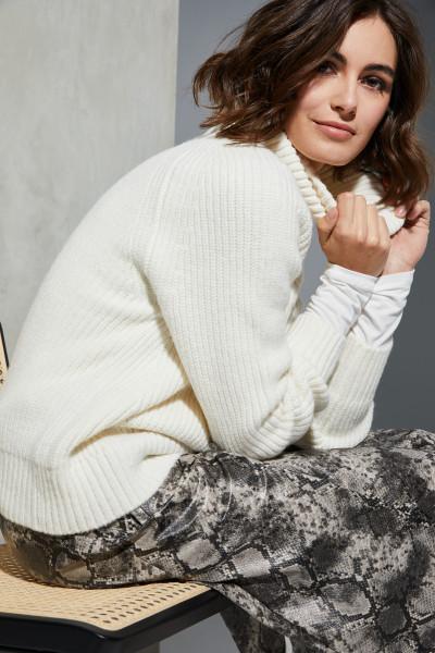 Milano Italy - Rollkragen-Pullover, Off White