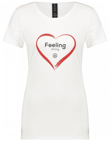 Jane Lushka T-Shirt - Feeling Strong, White