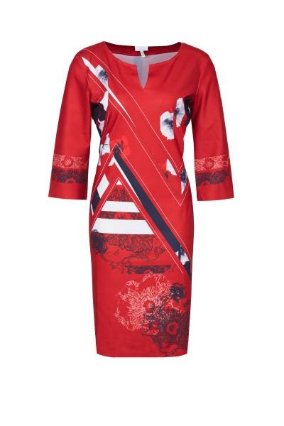 SportAlm - Kleid im grafischem All-Over-Look, Red