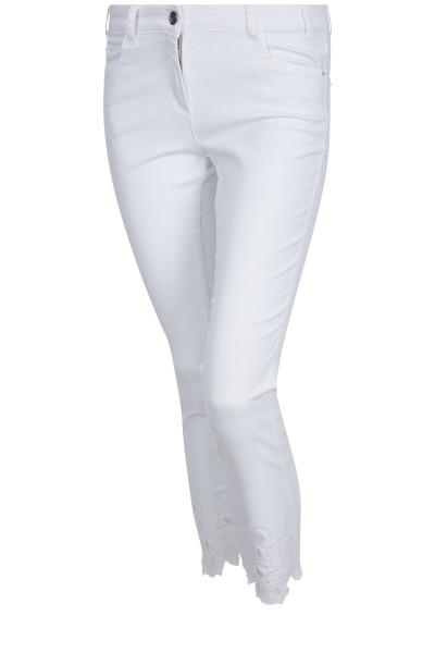 SportAlm - 7/8-Hose mit Loch-Stickerei, White