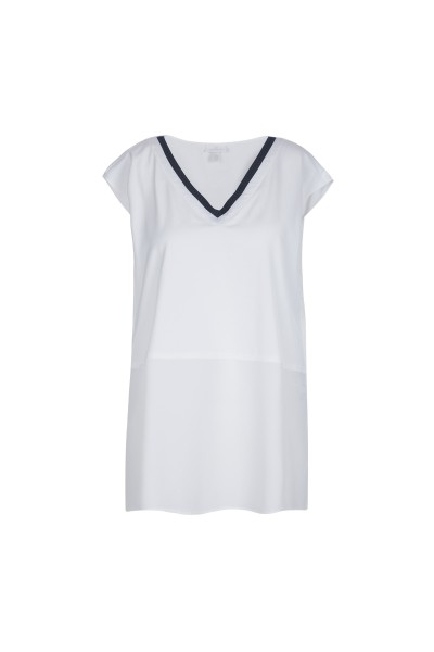 SportAlm - elegante Bluse Meg mit V-Ausschnitt, White