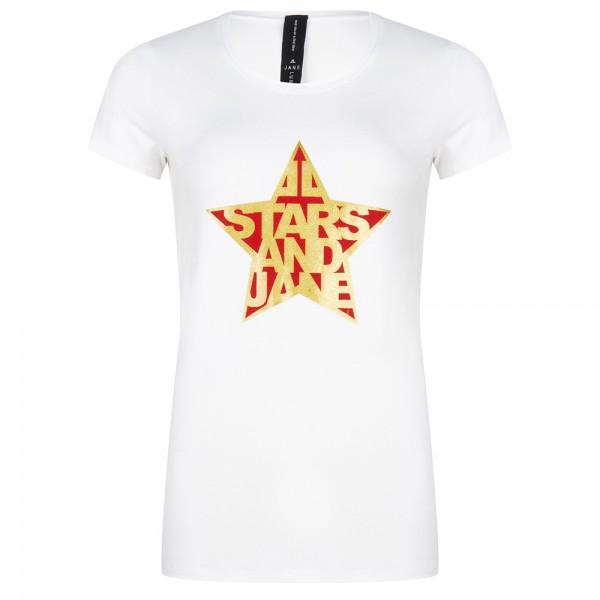 Jane Lushka - T-Shirt Frankie Stars White