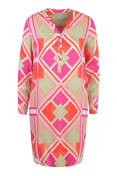 Milano Italy - Dress, Pink - Green Print