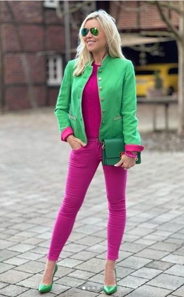 White Label - Janker, Green-Pink