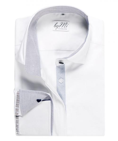 byMi - Bluse Elegancy Grey, Weiß