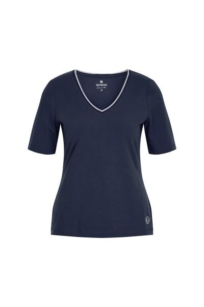 SportAlm - Kurzarmshirt mit V-Ausschnitt Mila, Blue